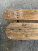 Pair of Long Chestnut Benches (8 of 10)
