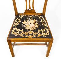 Very Good Set of Six George III Period Hepplewhite Mahogany Framed Single Chairs (6 of 7)