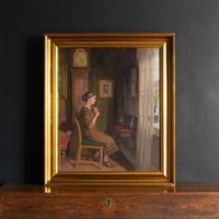 Robert Panitsch, Interior Scene with Pensive Woman (3 of 10)