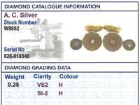 0.25ct Diamond & Crystal, 14ct Yellow Gold & Platinum Cufflink & Stud Set - Antique (9 of 9)