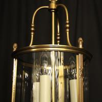 French Gilded Bronze Triple Light Convex Lantern (7 of 10)