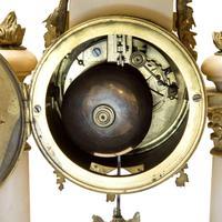 Mid 19th Century French Ormolu & Alabaster Portico Clock (6 of 8)