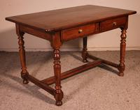 19th Century French Two Drawer Desk with Turned Feet (8 of 12)