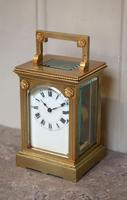 French Gilt Brass Carriage Clock (3 of 12)