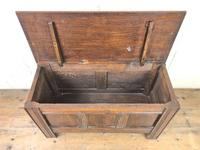 Small Antique Oak Panelled Coffer (3 of 10)