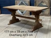 Smaller French Farmhouse Bleached Oak Dining Table (2 of 17)