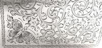 Antique Victorian Sterling Silver 'Butterflies' Card Case / Aide Memoire 1898 (7 of 10)