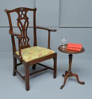 Elegant Chippendale Revival Mahogany Elbow Chair (8 of 13)
