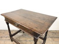 Early 18th Century Joined Oak Side Table (5 of 8)