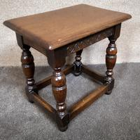 Solid Oak Stool / Occasional Table (2 of 9)