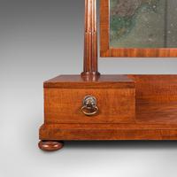 Antique Dressing Mirror, English, Mahogany, Boudoir, Pedestal Base, Victorian (11 of 12)