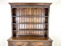 Decorative Antique Carved Oak Dresser (3 of 10)