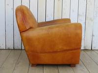 Large French Leather Club Chair (8 of 10)