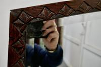 Carved Oak Arched Frame Mirror (2 of 4)