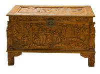 Early 20th Century Chinese Style Carved Camphorwood Chest (3 of 11)