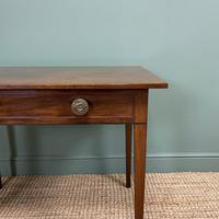 Fine Country Georgian Mahogany Antique Side / Writing Table (2 of 6)