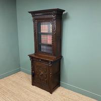Victorian Carved Oak Antique Bookcase (5 of 9)