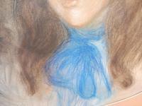 Large Pastel Portrait Two Girls Monogrammed TC 1910 (6 of 10)