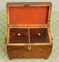 Antique Rosewood Tea Caddy (9 of 15)