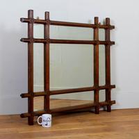 Wonderful Large Oak Arts & Crafts Mirror C1900 (4 of 11)