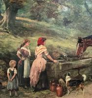 19thC English School - Horse & Hound Country landscape Oil Painting (9 of 11)