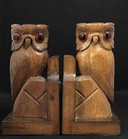 Pair of Vintage Carved Owl Bookends (3 of 5)