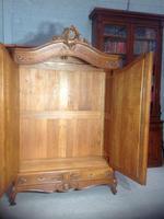 Carved Oak 2 Door  Armoire (9 of 9)