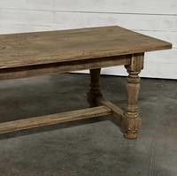 Nice Large Bleached Oak Farmhouse Dining Table With Extensions (18 of 35)