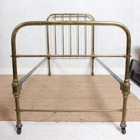 Brass Bed Frame Victorian 19th Century Single Bedframe Cast Iron (6 of 12)