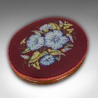 Pair of Antique Footstools, English, Walnut, Needlepoint, Rest, Victorian c.1860 (9 of 12)