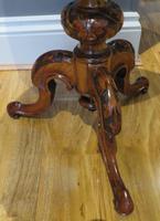 Victorian Inlaid Wine Table in Burr Walnut & Solid Walnut (4 of 5)