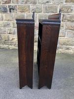 Pair of Antique Oak Open Bookcases (7 of 10)