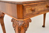 Antique Burr Walnut Queen Anne Style Console Server Table (8 of 10)