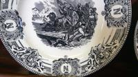 Napolean Bonaparte Interest, Pair of Transfer Printed Antique Pottery Plates (3 of 4)