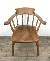 Antique Beech and Elm Smoker's Bow Armchair (14 of 16)