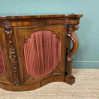 Spectacular Figured Rosewood Serpentine Victorian Antique Credenza (4 of 8)
