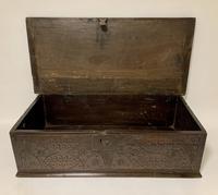 Antique 18th Century Oak Bible Box (8 of 19)