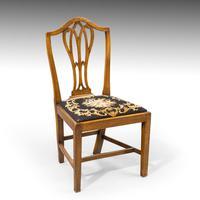 Very Good Set of Six George III Period Hepplewhite Mahogany Framed Single Chairs (3 of 7)