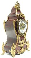 Wow! Phenomenal French Boulle Mantel Clock Red Shell floral Ormolu Mounts 8 Day Mantle Clock (5 of 10)