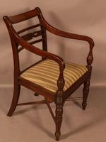 Rare Set of 10 Regency Period Mahogany Dining Chairs (5 of 17)