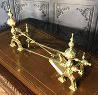 Quality Brass Andirons & Companion Set (3 of 17)
