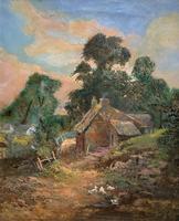Original 19th Century British Farmland Countryside Landscape Oil Painting (2 of 11)