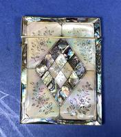 Victorian Abalone & Mother of Pearl Card Case (10 of 11)