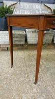 Victorian Mahogany Two-Drawer Writing Desk (4 of 8)