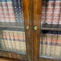 Quality Victorian Rosewood Antique Glazed Display Cabinet / Bookcase (2 of 9)
