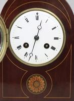 French Belle Epoque Mahogany Mantel Clock by Samuel Marti (3 of 6)