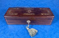 William IV Mother of Pearl Inlaid Rosewood Glove Box (14 of 14)