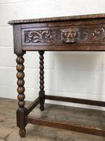 Antique Oak Carved Green Man Side Table (4 of 10)