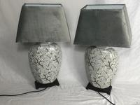 Pair Chinese Cantonese Porcelain Table Lamps With Shades Lighting Christmas Gift (47 of 51)