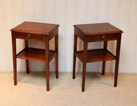 Pair of Edwardian Style Mahogany Tables (10 of 10)